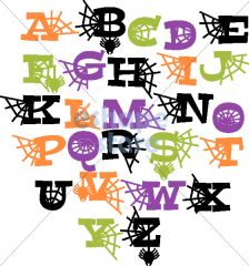 halloween letters-uppercase