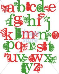 holiday lowercase monograms