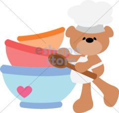 Chef Bear with Bowls
