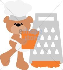 Chef Bear with Cheese Grater