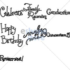 Special Occasion Phrases Set