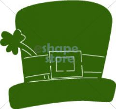 Top Hat with Shamrock