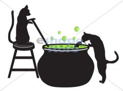 Cats Brewing Potion