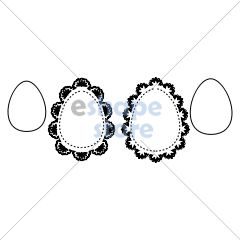 Easter Egg Doilies 1