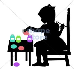 Girl Painting Eggs