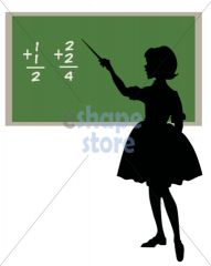 Girl as Teacher Silhouette