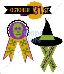 Halloween Ribbons 1