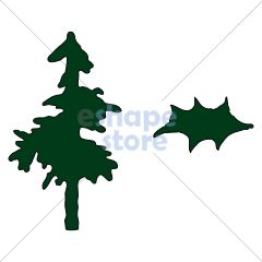 Pine Tree Holly Leaf
