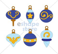 Christmas ornaments set